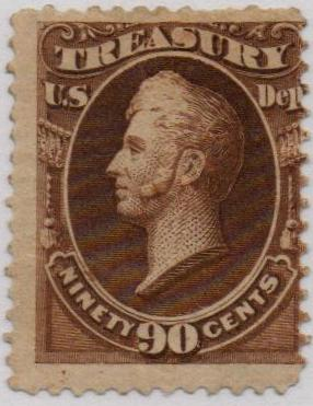 1879 90c brn, treasury, soft paper