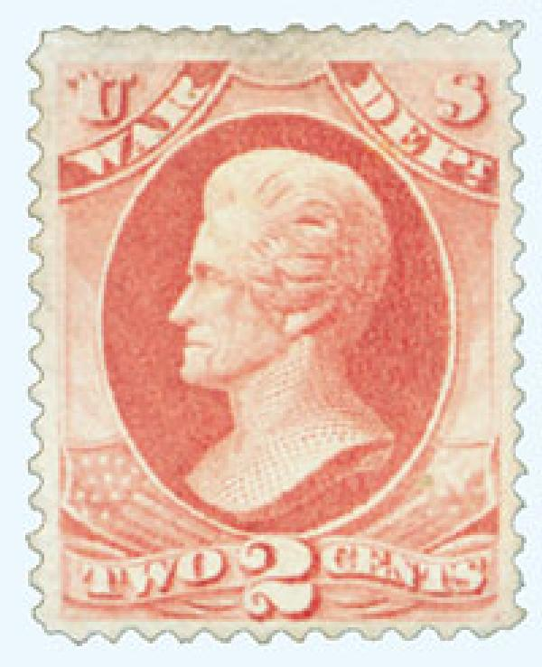 1879 2c ros red, war, soft paper