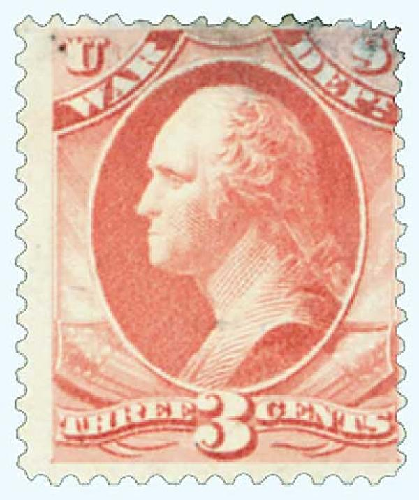 1879 3c ros red, war, soft paper