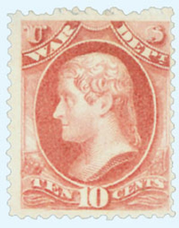 1879 10c ros red, war, soft paper