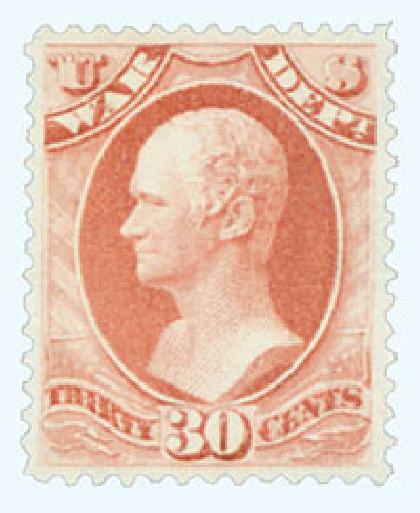 1879 30c ros red, war, soft paper