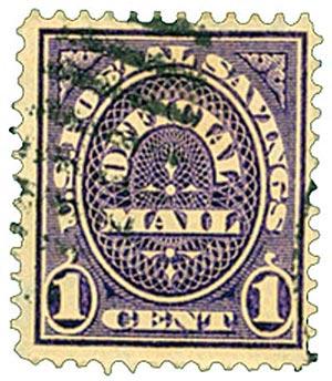 1911 1c dk vio, post sav, sl wmk.