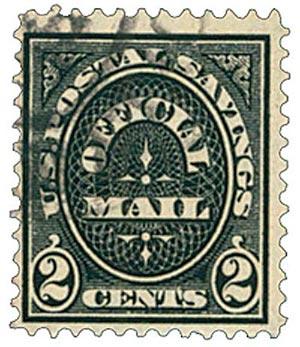 1911 2c Black, Postal Savings Mail