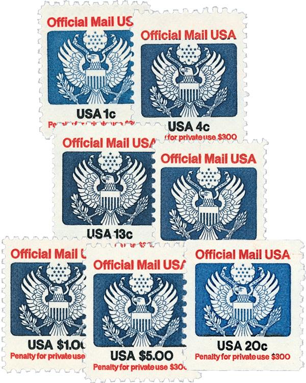 1983 Official Stamps 7v Used