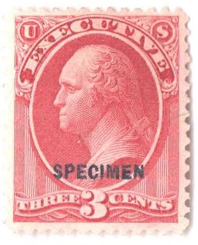 1875 3c carmine, executive