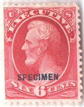 1875 6c carmine, executive