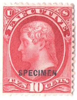 1875 10c carmine, executive