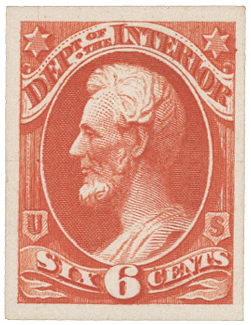 1873 6c vermilion