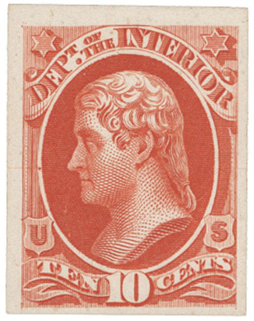 1873 10c vermilion