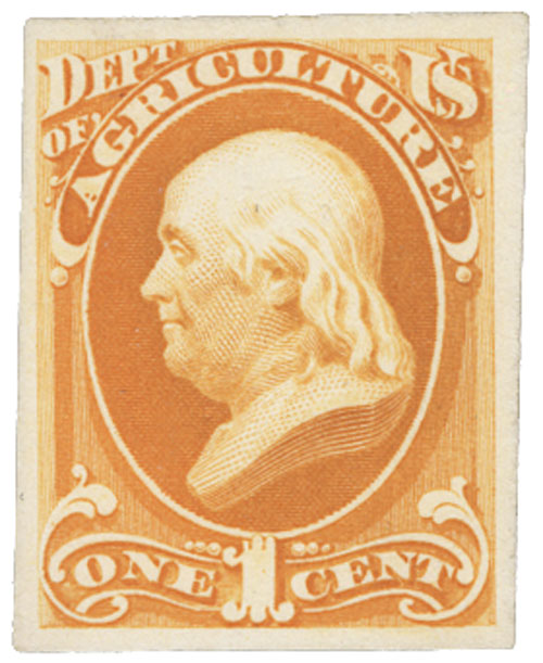 1873 1c yellow, agriculture