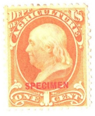 1875 1c yellow, Agriculture