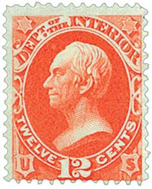 1873 12c ver, interior, hard paper