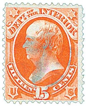 1873 15c ver, interior, hard paper