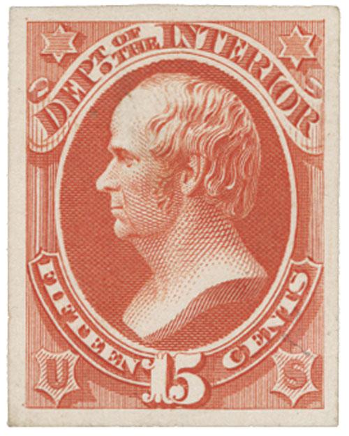 1873 15c vermilion
