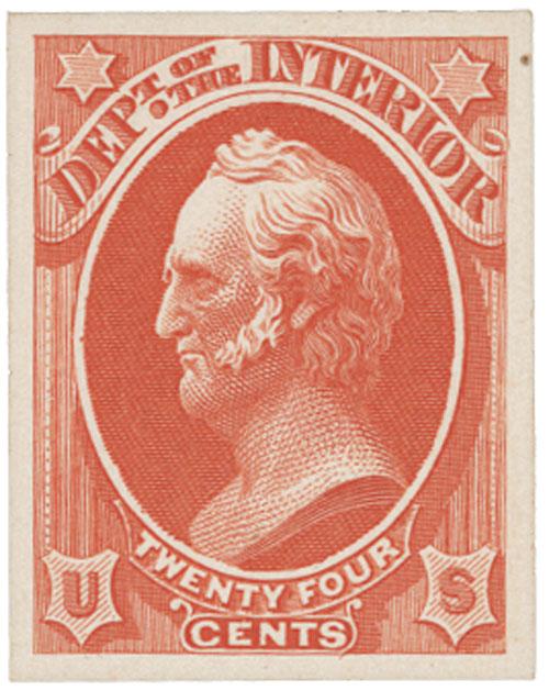 1873 24c vermilion
