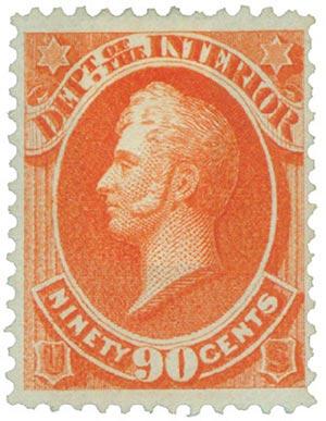 1873 90c ver, interior, hard paper