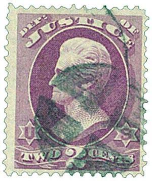 1873 2c pur, justice, hard paper
