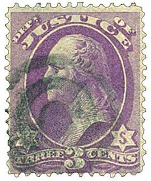 1873 3c pur, justice, hard paper