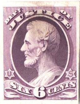1873 6c purple, Justice