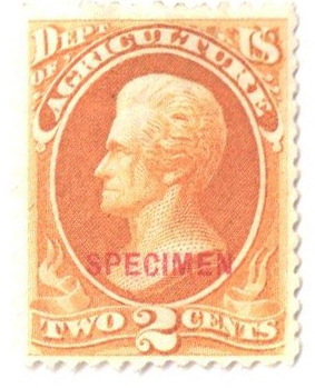 1875 2c yel,agriculture, car ovprnt
