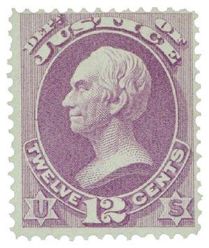 1873 12c pur, justice, hard paper