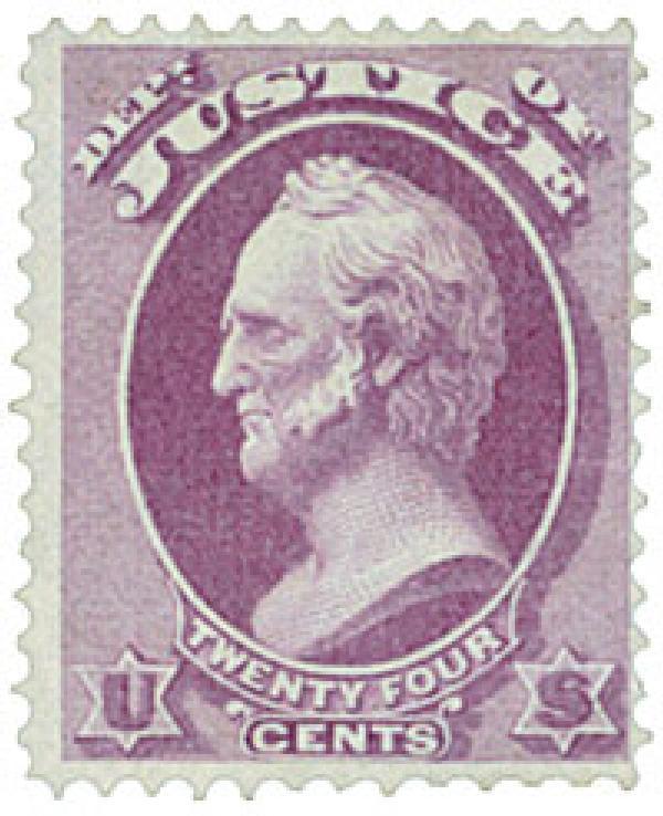 1873 24c pur, justice, hard paper