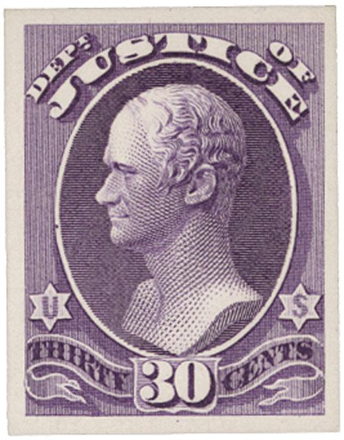 1873 30c purple, Justice