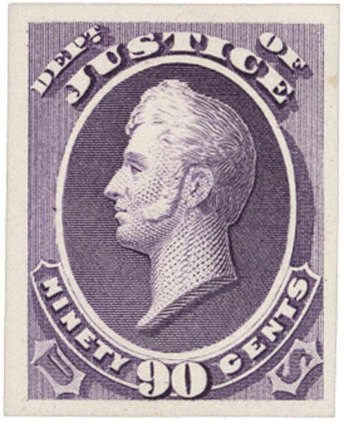 1873 90c purple, Justice