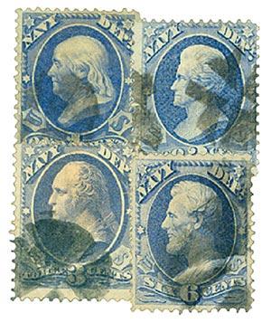 1873 1c-6c U.S. Officials