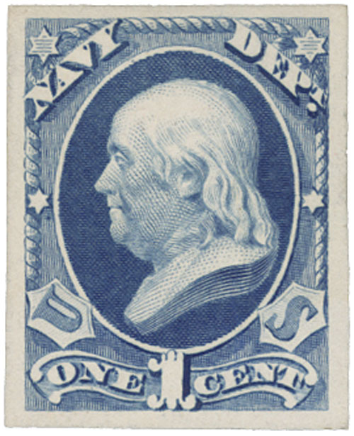 1873 1c ultramarine