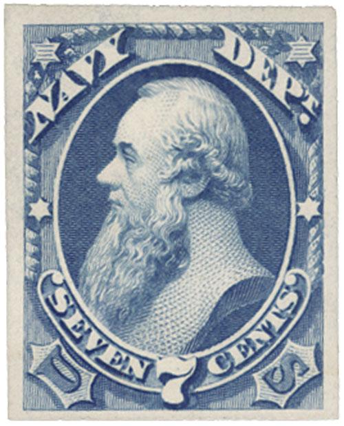 1873 7c ultramarine, navy