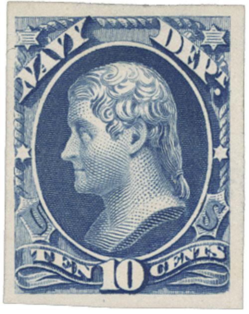 1873 10c ultramarine