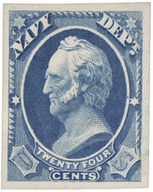 1873 24c ultramarine