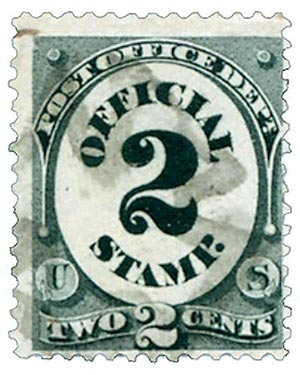 1873 2c blk, post office, hard paper