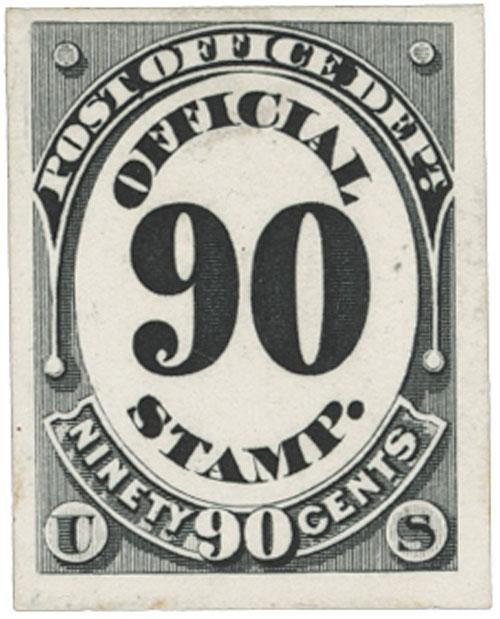 1873 90c black, post office