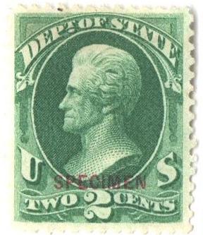 1875 2c bl grn, state, car ovprntr