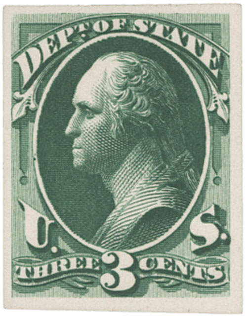 1873 3c green, State