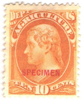 1875 10c yellow