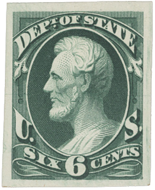 1873 6c green, State