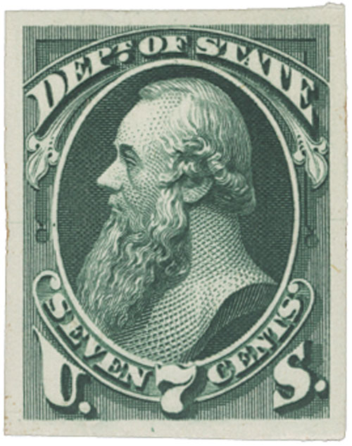 1873 7c green, state