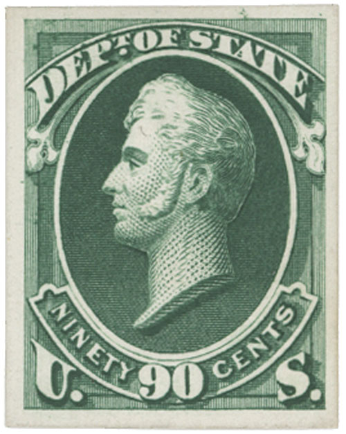 1873 90c green, State