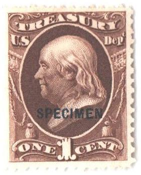 1875 1c dk brown