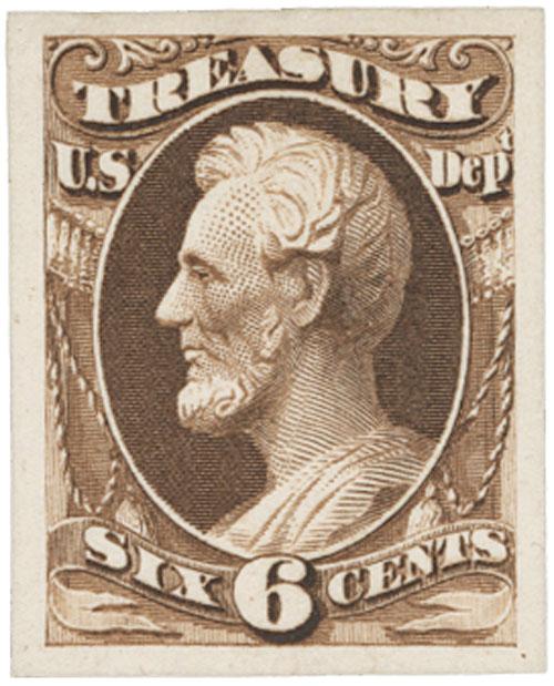 1873 6c brown, treasury