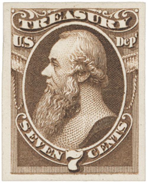 1873 7c brown, treasury