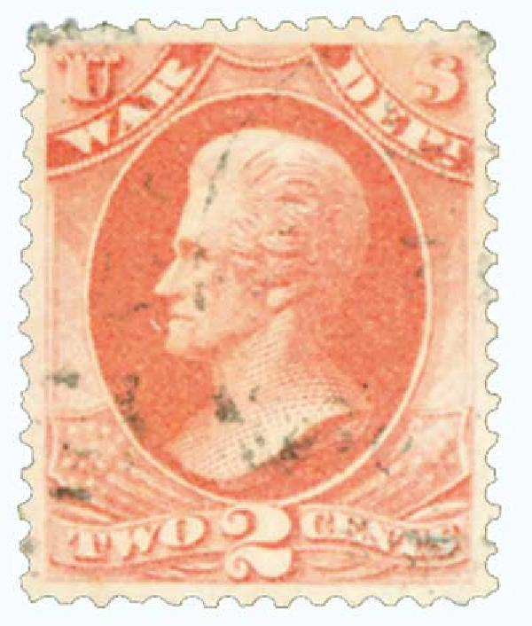 1873 2c ros, war, hard paper