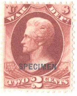 1875 2c deep rose, War