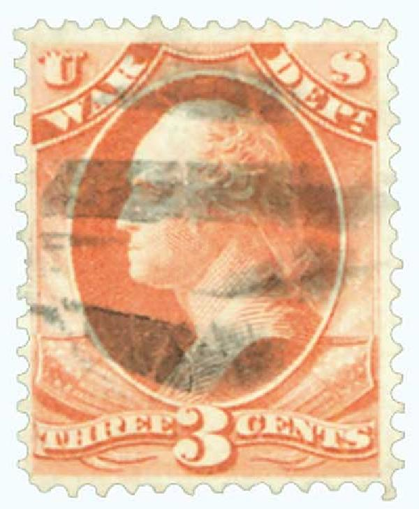 1873 3c ros, war, hard paper