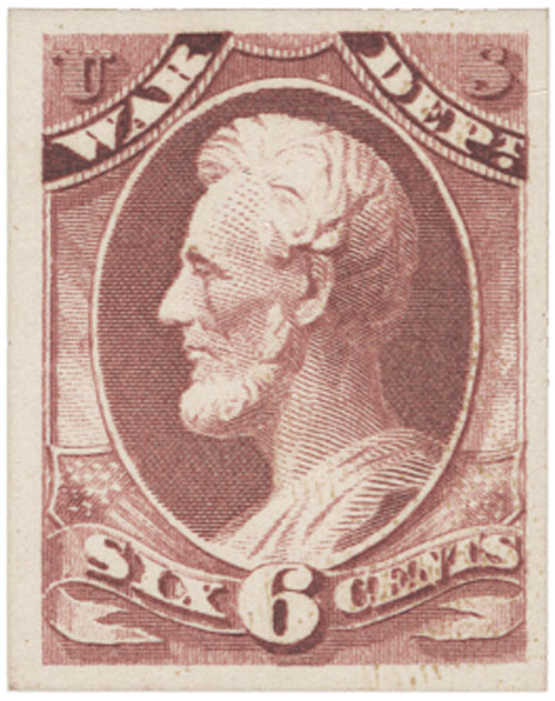 1873 6c rose, War