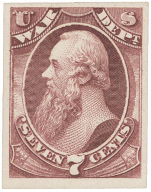 1873 7c rose, war