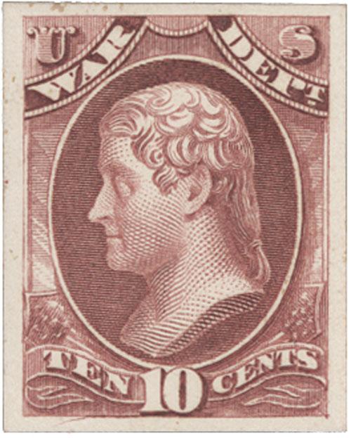 1873 10c rose, War